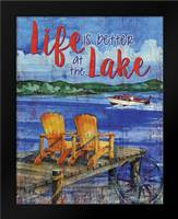 Lake Time Vertical II: Framed Art Print by Brent, Paul