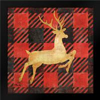 Buffalo Check Reindeer I: Framed Art Print by Brent, Paul