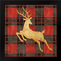 Buffalo Check Reindeer II: Framed Art Print by Brent, Paul