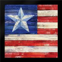 All American Flag III: Framed Art Print by Brent, Paul