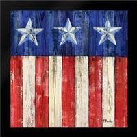 All American Flag IV: Framed Art Print by Brent, Paul
