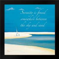 Serenity Sentiment: Framed Art Print by Brent, Paul