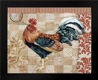 Bergerac Rooster Red II: Framed Art Print by Brent, Paul