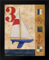 Model Yacht Collage II: Framed Art Print by Brent, Paul
