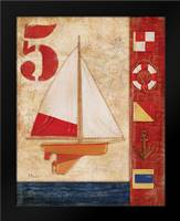 Model Yacht Collage IV: Framed Art Print by Brent, Paul