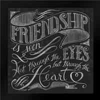 Friendship is Seen: Framed Art Print by Brent, Paul