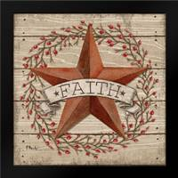 Faith Star: Framed Art Print by Brent, Paul