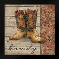 Wild West Boots II: Framed Art Print by Brent, Paul