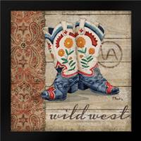 Wild West Boots IV: Framed Art Print by Brent, Paul