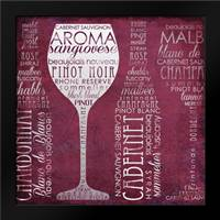 Vino Lingo I: Framed Art Print by Brent, Paul