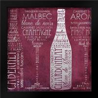 Vino Lingo II: Framed Art Print by Brent, Paul