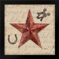 Bandana Barn Star I: Framed Art Print by Brent, Paul