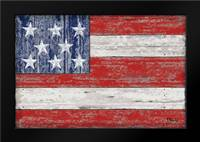 American Flag: Framed Art Print by Brent, Paul