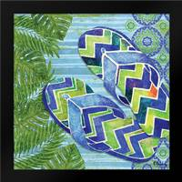 Blue Sarasota Sandals II: Framed Art Print by Brent, Paul