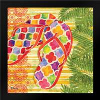 Red Sarasota Sandals I: Framed Art Print by Brent, Paul