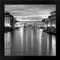 Golden Ponte Vecchio: Framed Art Print by Crane, Rita