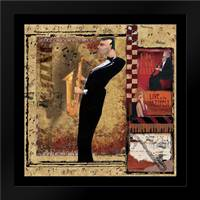 Jazz Sax: Framed Art Print by CW Designs Inc.