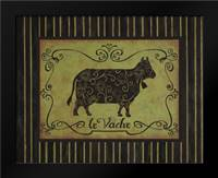 la Vache: Framed Art Print by Devereux, Sophie