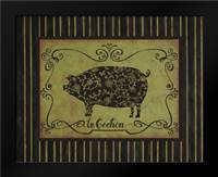 le Cochon: Framed Art Print by Devereux, Sophie