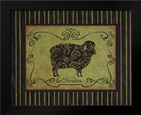 le Mouton: Framed Art Print by Devereux, Sophie