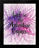 Adventure Begins: Framed Art Print by Frazer, Amy