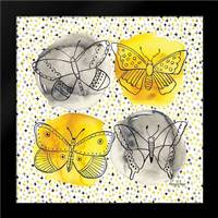 Gray and Yellow Butterflies II: Framed Art Print by Frazer, Amy