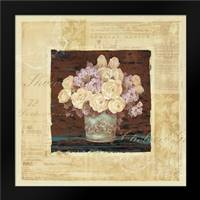 Vintage Rose Yellow: Framed Art Print by Gladding, Pamela