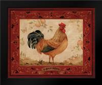 Gallo Dorato: Framed Art Print by Gladding, Pamela
