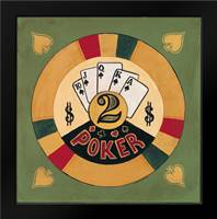 Poker - $2: Framed Art Print by Gorham, Gregory