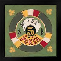 Poker - $5: Framed Art Print by Gorham, Gregory