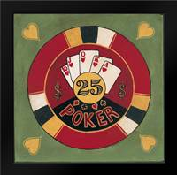 Poker - $25: Framed Art Print by Gorham, Gregory