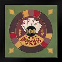 Poker - $I00: Framed Art Print by Gorham, Gregory