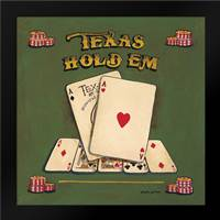 Texas Hold Em: Framed Art Print by Gorham, Gregory
