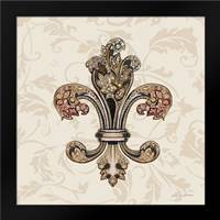 Fleur de Lis Motif I: Framed Art Print by Gorham, Gregory
