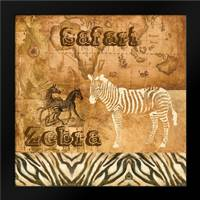 Safari Zebra: Framed Art Print by Gorham, Gregory