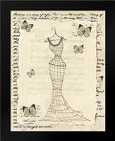Wire Dress I: Framed Art Print by Guinn, Katie
