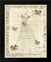 Wire Dress II: Framed Art Print by Guinn, Katie