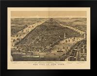 1889 NYC Map: Framed Art Print by Harbick, N.