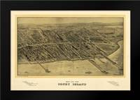 1906 Coney Island Map: Framed Art Print by Harbick, N.
