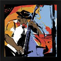Jazz Man: Framed Art Print by Johnson, Cathy