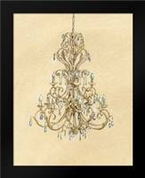 Elegant Chandelier I: Framed Art Print by Laurencon