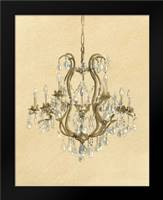 Elegant Chandelier II: Framed Art Print by Laurencon