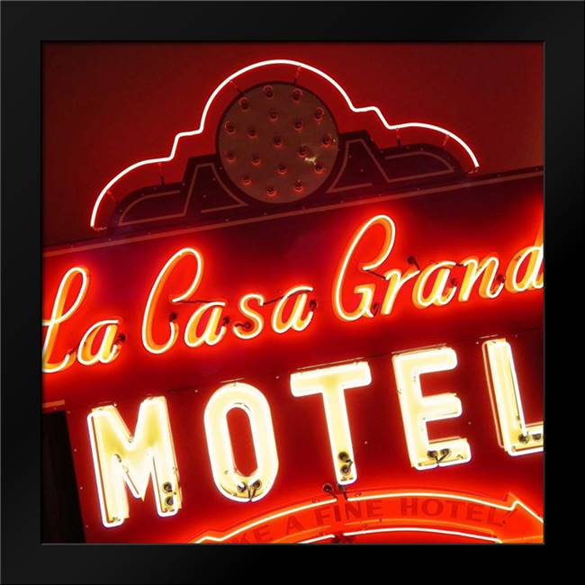 La Casa Grande Motel: Framed Art Print by Burkhart, Monika