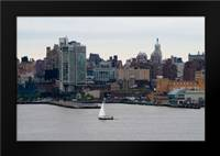 NYC and Hudson River II: Framed Art Print by Berzel, Erin