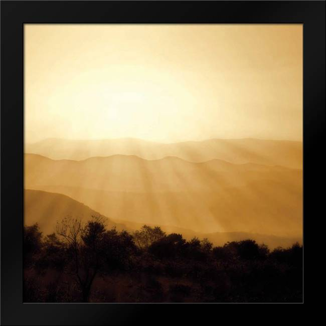Distant Mountains Sq II: Framed Art Print by Hausenflock, Alan