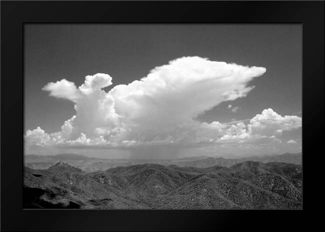 Distant Rain BW: Framed Art Print by Taylor, Douglas