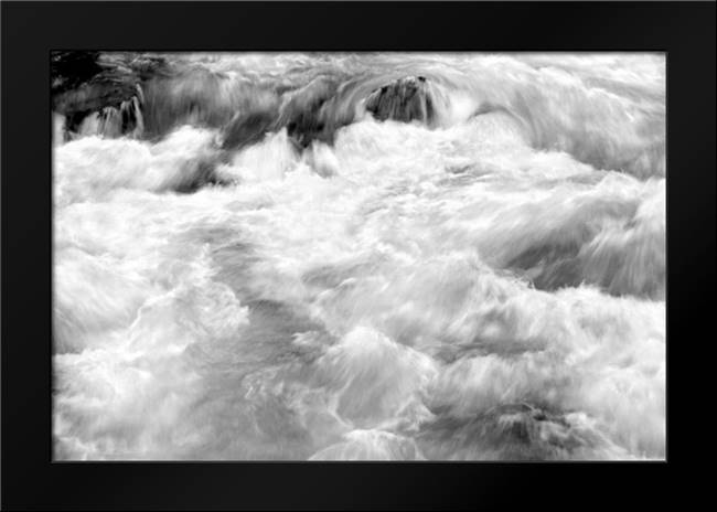 Hamma Hamma Current I BW: Framed Art Print by Taylor, Douglas