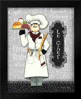 Le Chef: Framed Art Print by Wright, Sydney
