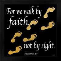 Walk By Faith 2: Framed Art Print by Saunders, Alonzo