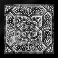 Black Tile Light 3: Framed Art Print by Saunders, Alonzo